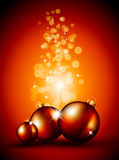 Fundos do Natal com Baubles impressionantes Fotografia de Stock Royalty Free