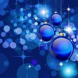 Fundos do Natal com Baubles impressionantes Fotografia de Stock