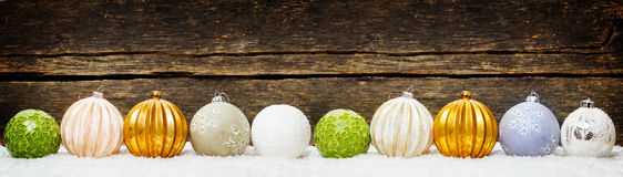 Fundos do Natal, decoração do Natal com bolas imagens de stock royalty free