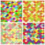 Fundos do papel da cor da escala ajustados Fotografia de Stock
