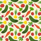 Fundos do teste padrão dos vegetais Imagens de Stock Royalty Free