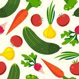 Fundos do teste padrão dos vegetais Fotos de Stock Royalty Free