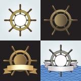 Fundos do vetor do leme do navio ajustados Imagens de Stock Royalty Free