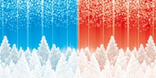 Fundos dos pinhos do Natal Fotos de Stock