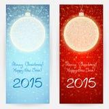 Fundos festivos com bolas do Natal Imagens de Stock Royalty Free