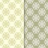 Fundos florais do verde azeitona Jogo de testes padrões sem emenda Fotografia de Stock