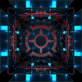 Fundos futuristas decorativos da cor ilustração 3D Foto de Stock