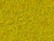 Fundos futuristas digitais dos objetos abstratos do ouro Imagem de Stock Royalty Free