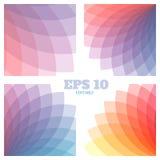 Fundos geométricos abstratos ajustados Cores transparentes do arco-íris bonito Fotografia de Stock