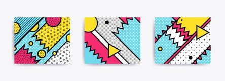 Fundos geométricos neo de Memphis da tendência colorida Imagem de Stock Royalty Free