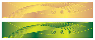 Fundos geométricos verdes e amarelos ilustração do vetor