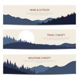Fundos horizontais das montanhas com lugar para o texto Imagem de Stock