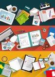 Fundos infographic do negócio ajustados Foto de Stock