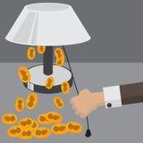 Fundos lisos da ilustração do vetor ajustados economia do dinheiro Imagens de Stock Royalty Free