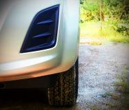 Fundos novos dianteiros do outono do carro Imagem de Stock