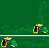 Fundos para o dia do St. Patrick Foto de Stock