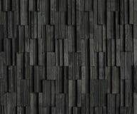 Fundos pretos da textura da ardósia dos tijolos Foto de Stock Royalty Free