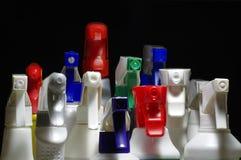 Fundos pretos 2 dos detergentes Fotografia de Stock Royalty Free