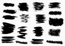 Fundos secos da escova do vetor do Grunge Isolado Grupo tirado m?o ilustração do vetor