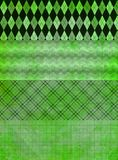 Fundos verdes da bandeira do grunge Fotos de Stock