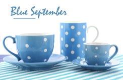 Fundraiser azul do evento da caridade de setembro foto de stock royalty free