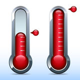 Fundraiser goal thermometer Royalty Free Stock Photography