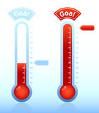 Fundraiser goal thermometer Stock Images
