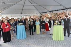 Fundraiserparti royaltyfria bilder