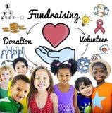 Fundraising концепция благосостояния призрения сердца пожертвования Стоковая Фотография RF