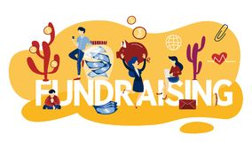 Fundraising concept. Idea of the charity and sponsorship. Fundraising concept. Idea of charity and sponsorship. Money investment in idea. Isolated flat vector stock illustration