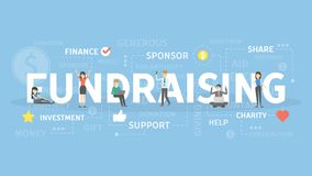 Fundraising concept illustration. Idea of support, investment and sponsor Royalty Free Stock Photo
