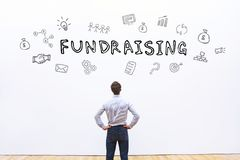 Fundraising concept. Fundraising, fund raising financial business concept Royalty Free Stock Image