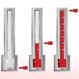 Fundraising goal meter vector illustration