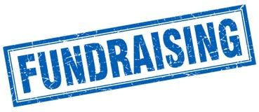 Fundraising stamp. Fundraising square grunge stamp. fundraising sign. fundraising royalty free illustration