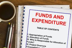 Funds, allocation and expenditures concept Stock Images
