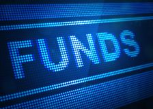 Funds digital screen 3d illustration. With blue colour Stock Photos