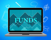 Funds Online Indicates Stock Market And Computing Royalty Free Stock Photos