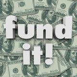 Funduje Mnie pieniądze tła finansowania uruchomienia Fundować Zdjęcia Royalty Free
