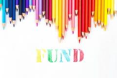 Funduszu rysunek colour ołówkami Fotografia Royalty Free
