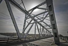 Funen und die alte Brücke Stockbilder