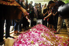 FUNERAL OF AIRASIA FLIGHT CRASH VICTIM Stock Photos