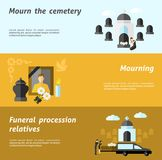 Funeral Banner Set Royalty Free Stock Photos
