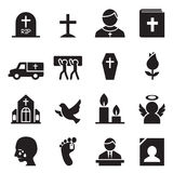 Funeral, Burial icon Stock Images