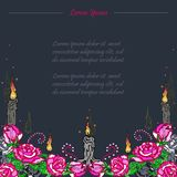 Funeral card. Day of the dead royalty free illustration