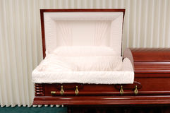 Funeral Casket Stock Image
