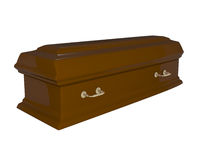 Funeral Casket isolated on white Royalty Free Stock Photography