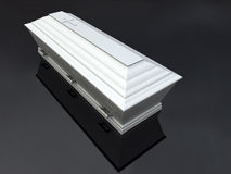 Funeral Casket White,  Stock Photo
