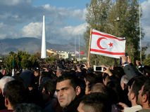Funeral Ceremony of Rauf Denktas. Today is mourning for Turkish Cypriots. He was a great leader. RIP stock photos