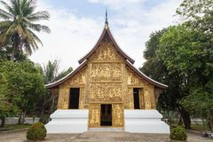 Funeral chapel at Wat Xieng Thong temple in Luang Prabang Royalty Free Stock Image