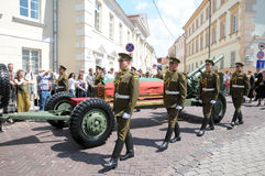 Funeral de estado do presidente do antigo Lithuania fotografia de stock